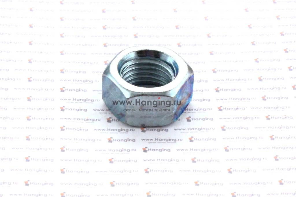 Гайка шестигранная оцинкованная М22 класс прочности 10