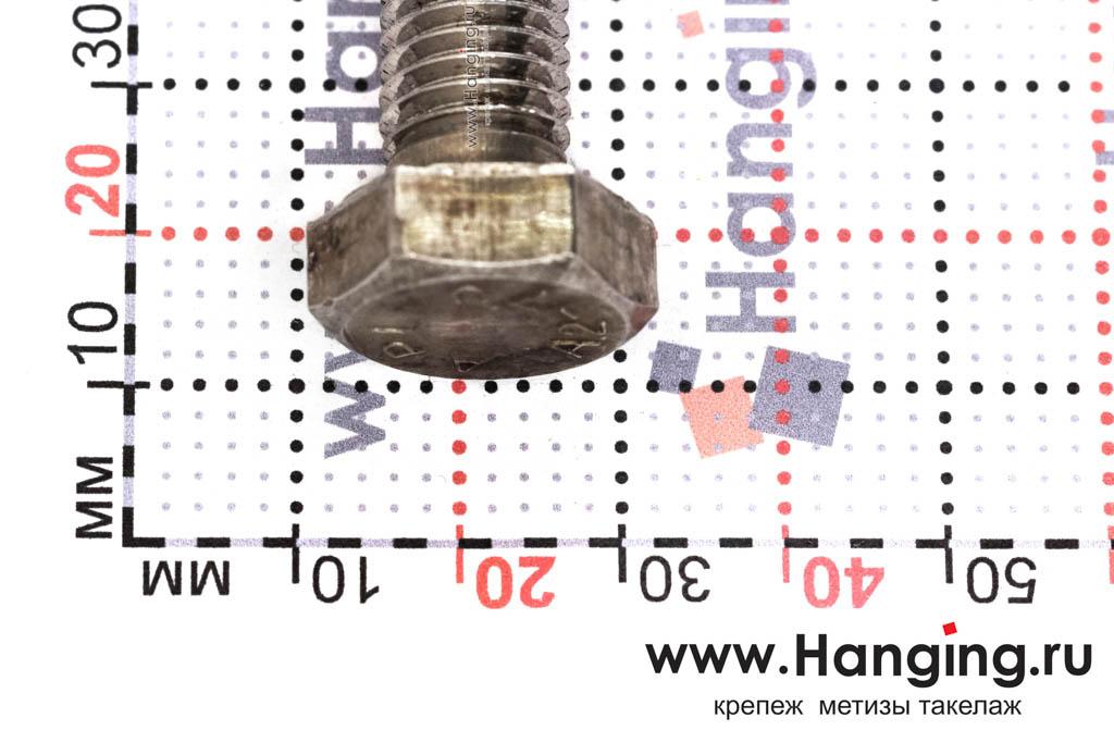 Головка болта М12х160 из нержавеющей стали А2 DIN 933