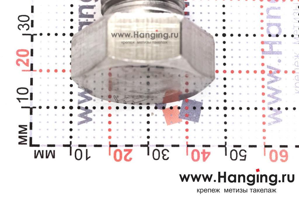 Головка болта М22х120 из нержавеющей стали А2 DIN 933