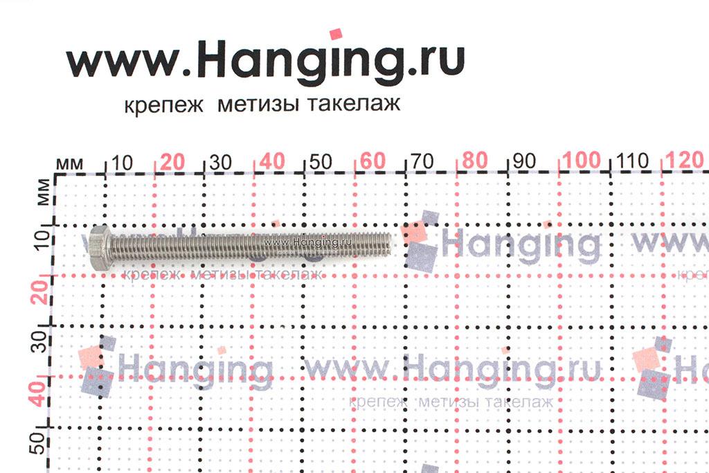 Размеры болта М5х55 DIN 933