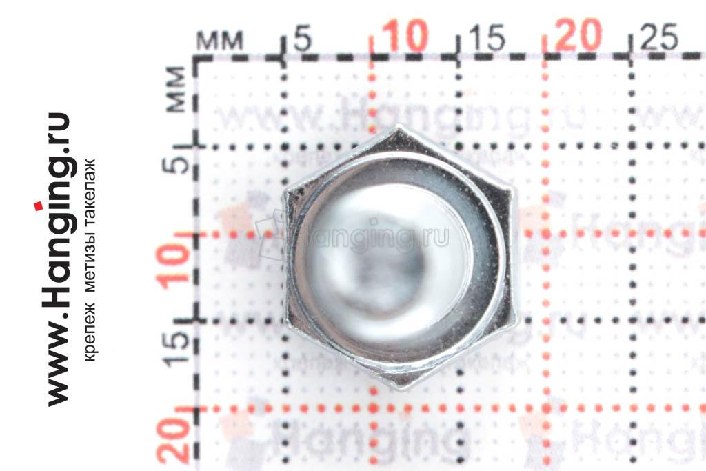 Головка болта с полной резьбой цинк 8х16 цинк
