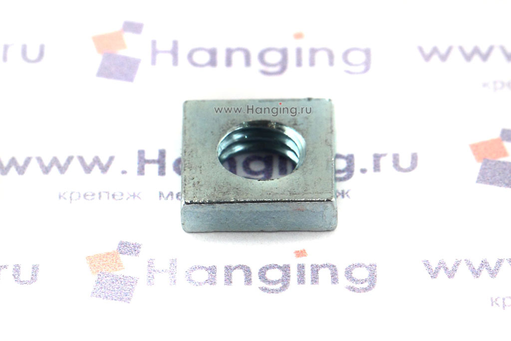 Гайка квадратная DIN 562 М6 низкая оцинкованная