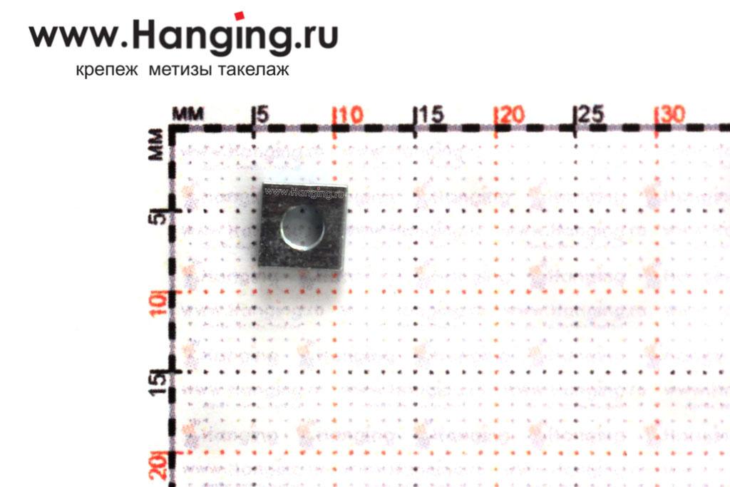 Размеры квадратной низкой гайки М3 DIN 562