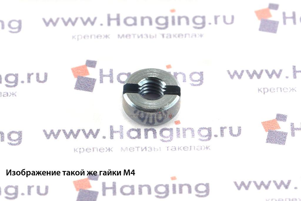 Гайки DIN 546 М6 круглые с прямым шлицем оцинкованные