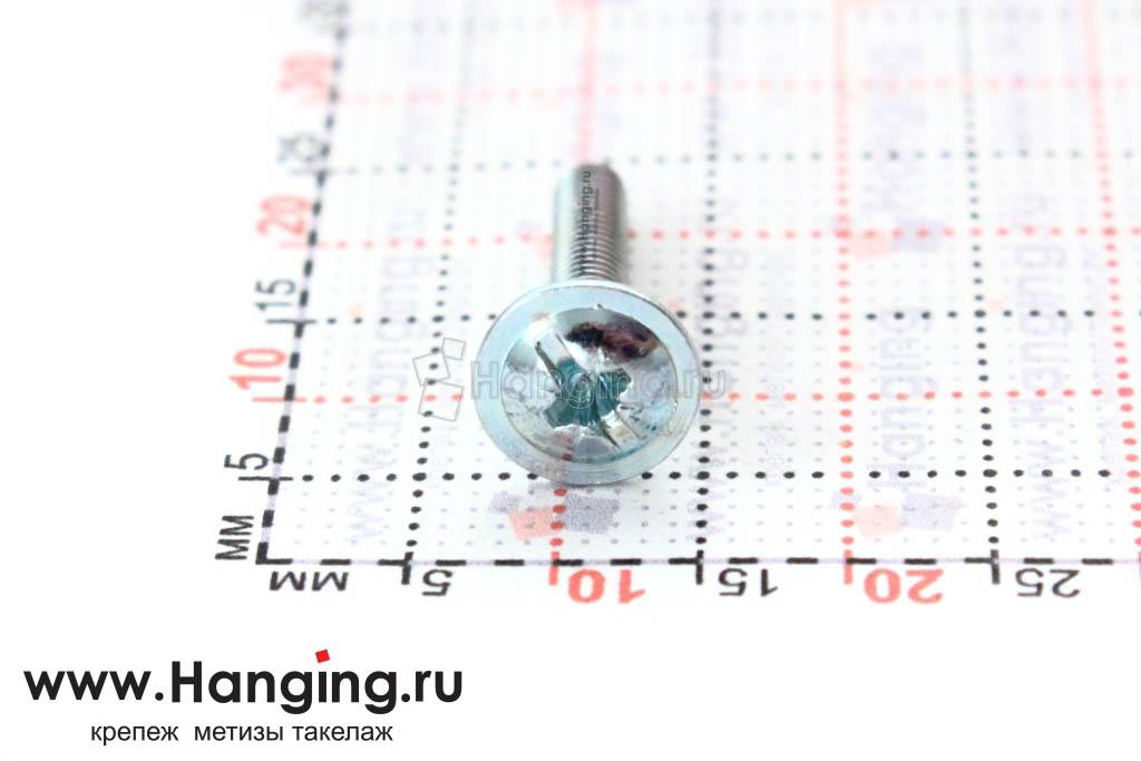 Головка с пресс-шайбой винта DIN 967 3*16