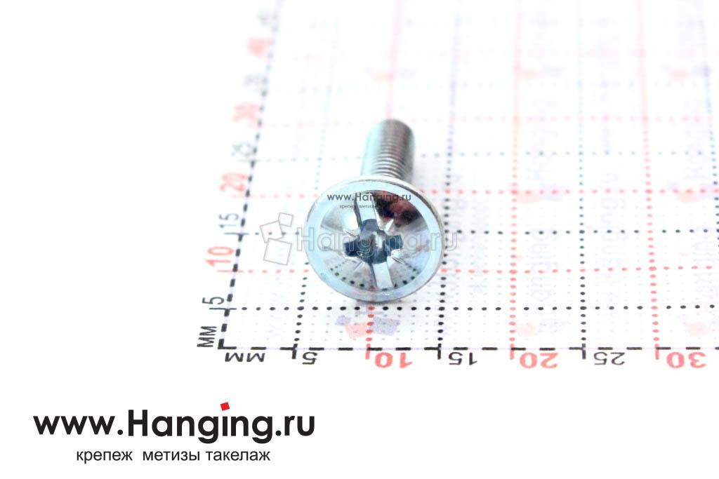 Головка с пресс-шайбой винта DIN 967 4*18