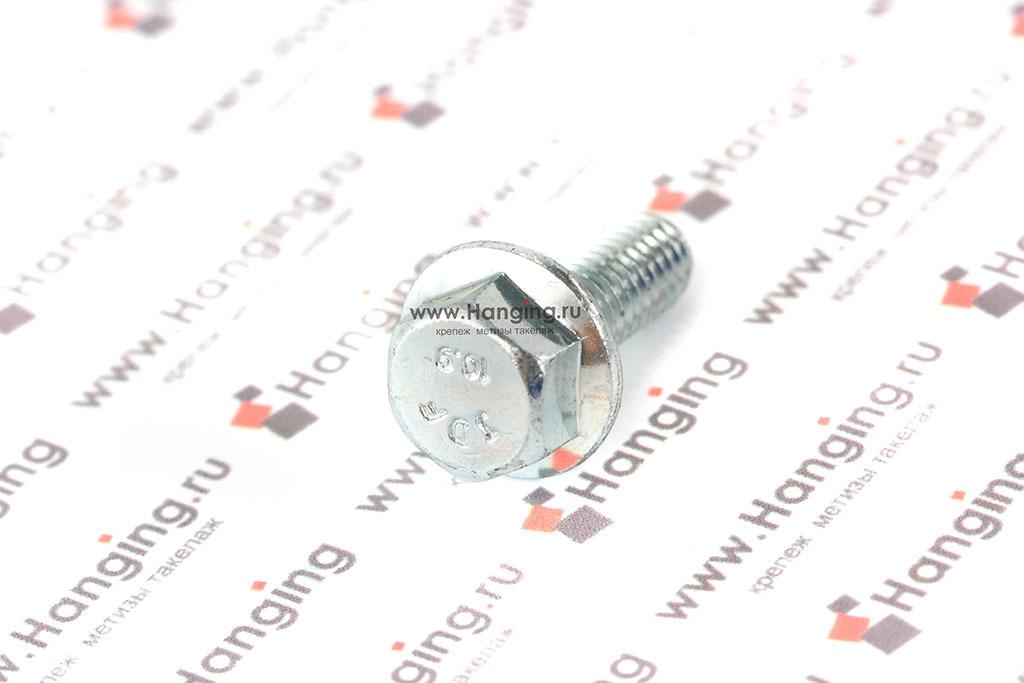 Болт с фланцем М6*16 кл. пр. 10.9 цинк (zn) DIN 6921