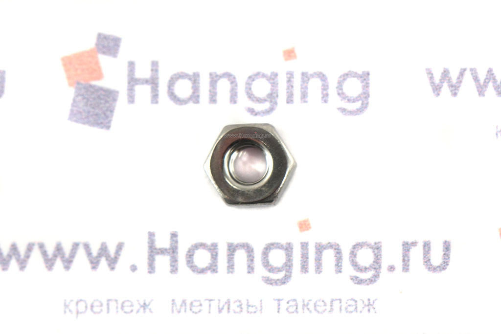 Гайка нержавеющая сталь А4 М2,5