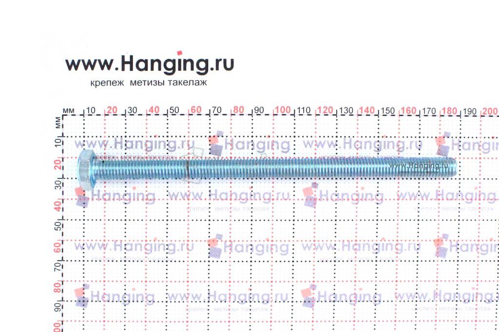 Размер резьбы оцинкованного болта с полной резьбой М10*170