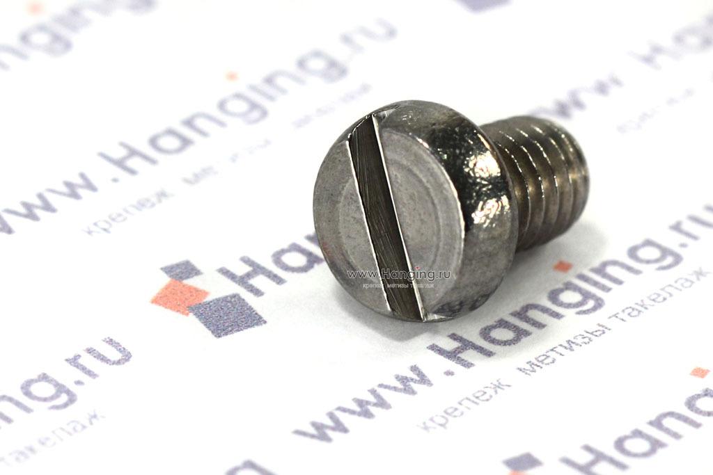 Винты М6х8 c круглой плоской головкой из нержавеющей стали А2 DIN 84