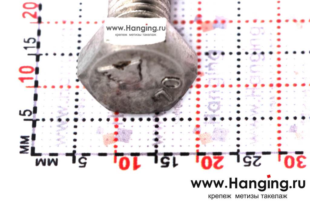 Головка болта М8х22 из нержавеющей стали А4 DIN 933