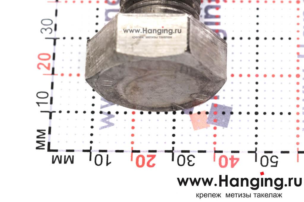 Головка болта М20х100 из нержавеющей стали А4 DIN 933