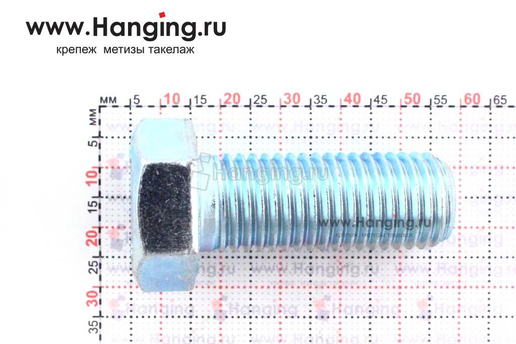 Размеры болта класса прочности 5.8 с полной резьбой 16х40