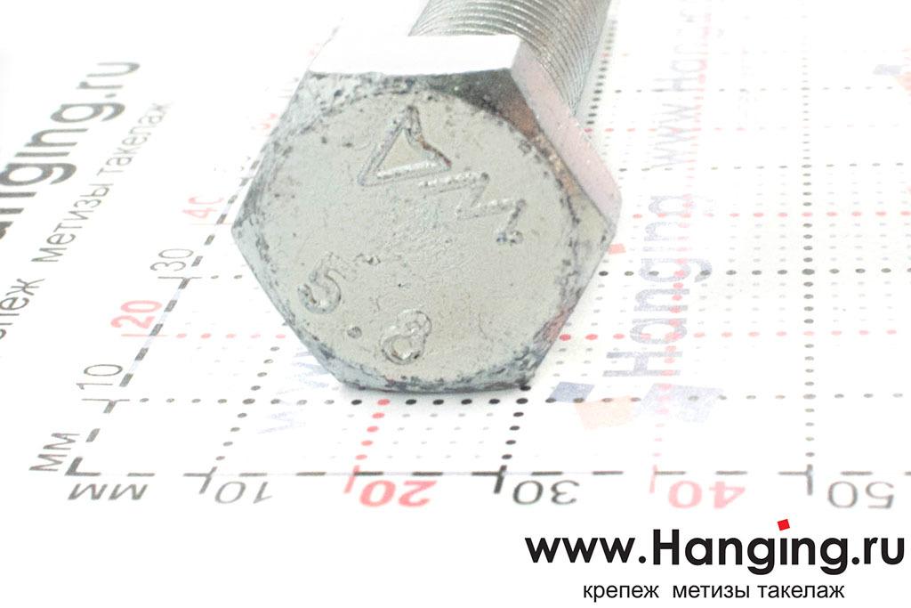 Размеры головки болта М16х80 с полной резьбой цинк DIN 933
