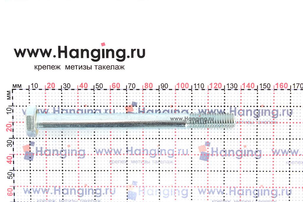 Размеры болта М10*120 DIN 931, ISO 4014 и ГОСТ Р ИСО 4014-2013 оцинкованного