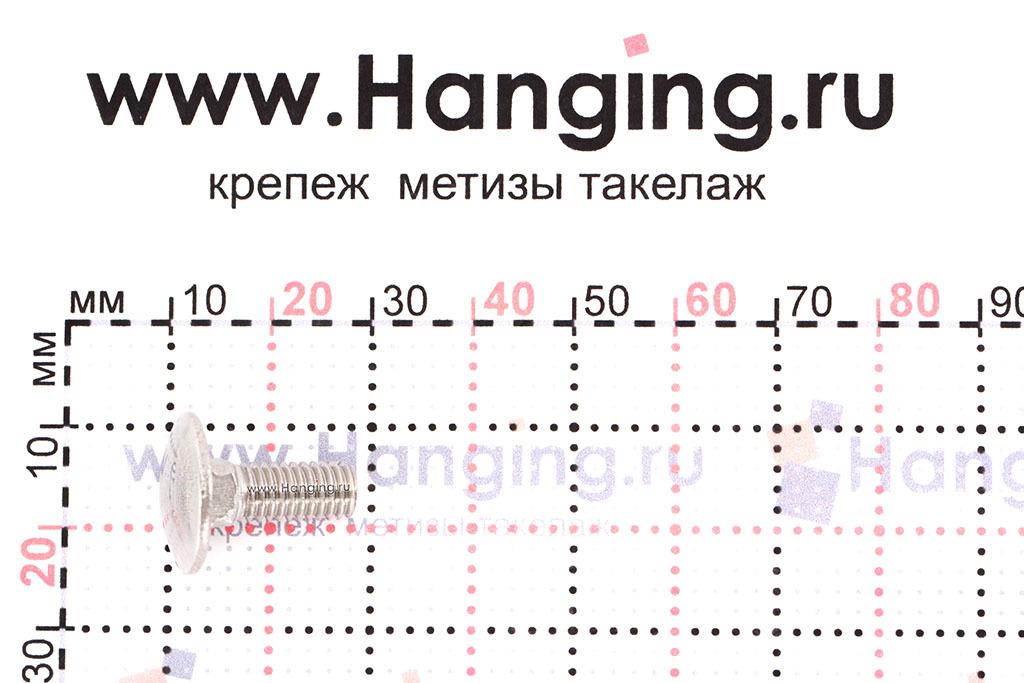 Размеры болта М6х16 DIN 603