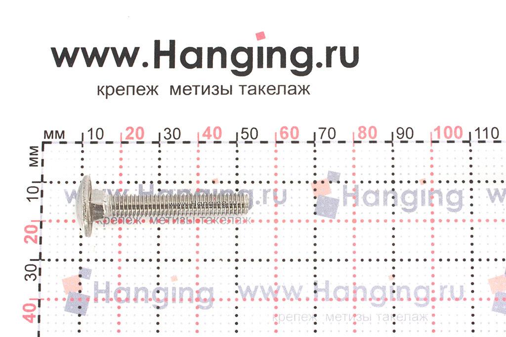 Размеры болта М6х40 DIN 603