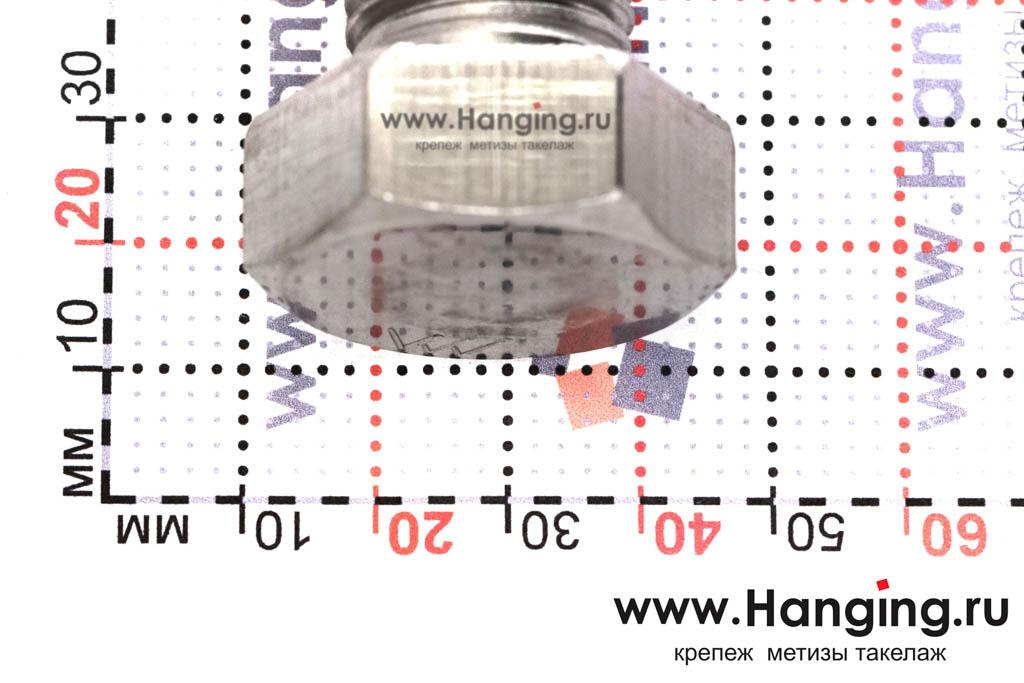 Головка болта М22х120 из нержавеющей стали А4 DIN 933