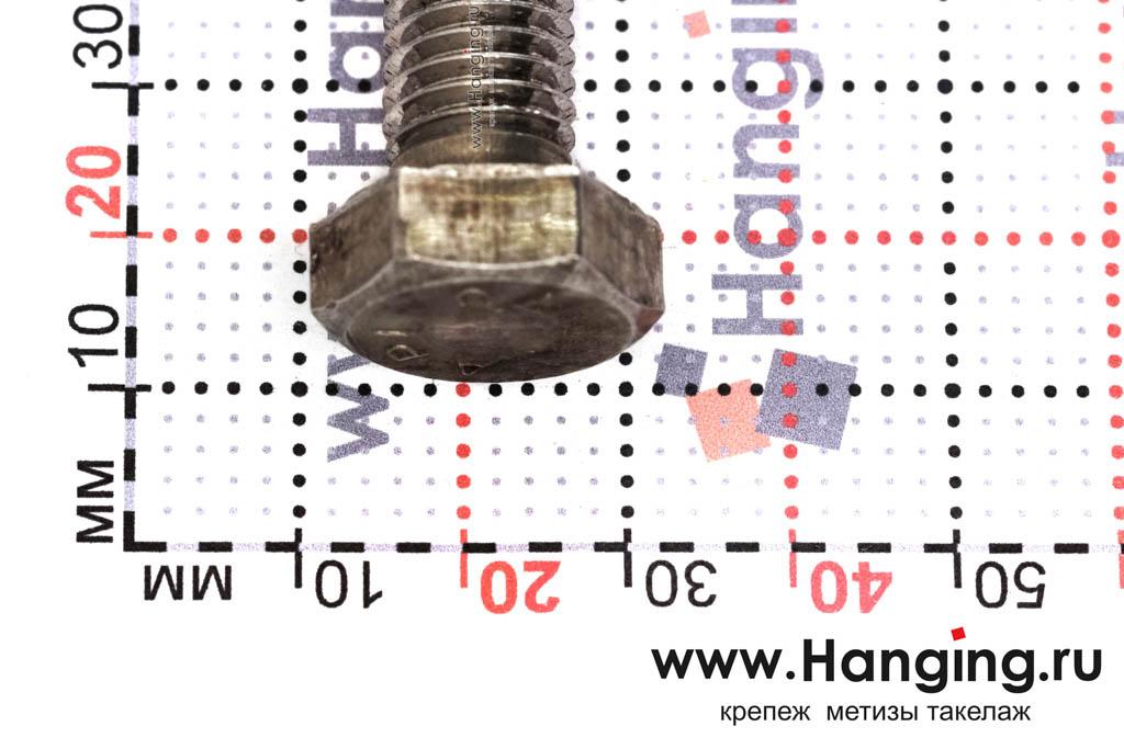 Головка болта М12х160 из нержавеющей стали А4 DIN 933