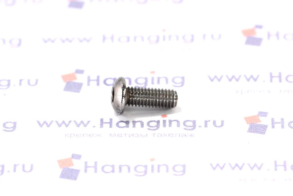 Винты М3х8 с внутренним шестигранником и полусферической головкой из нержавеющей стали А4 DIN 7380