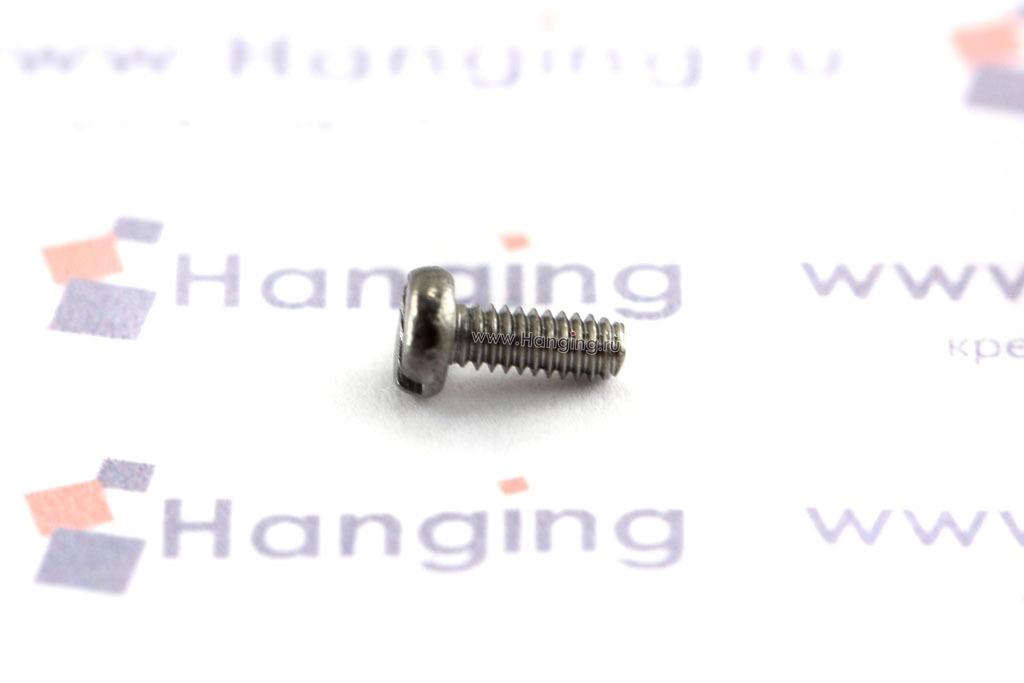 Винт М2х5 c круглой плоской головкой из нержавеющей стали А2 DIN 84