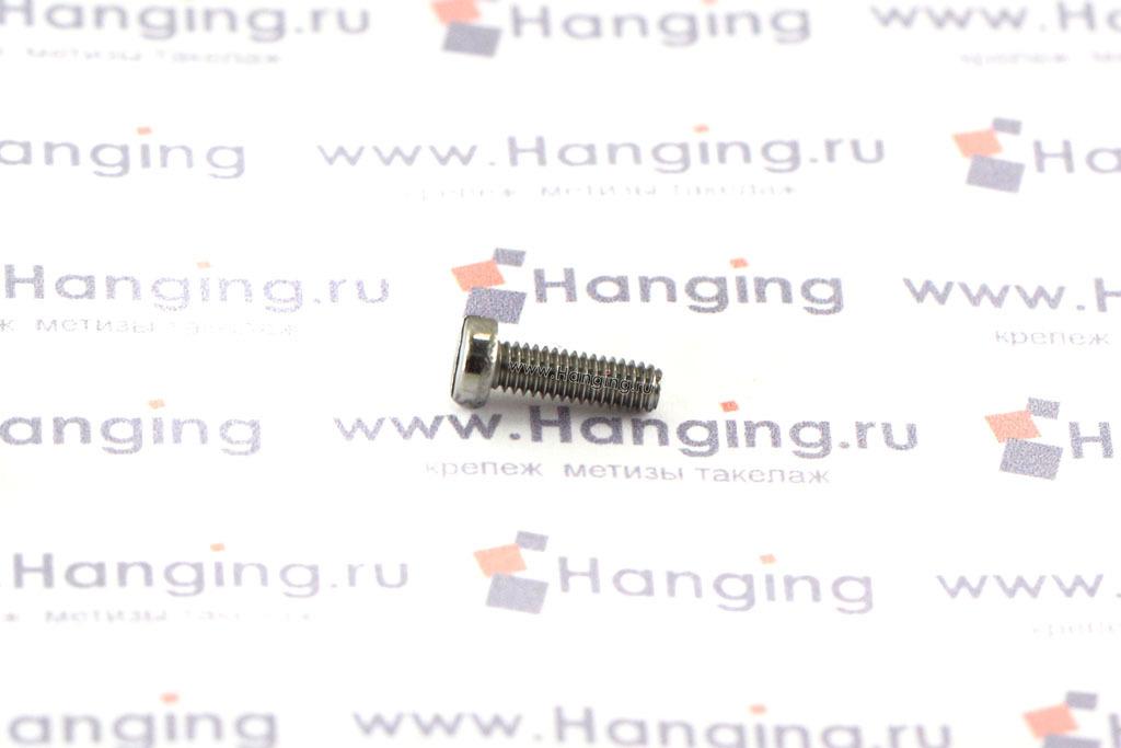 Винт М2,5х8 c круглой плоской головкой из нержавеющей стали А2 DIN 84
