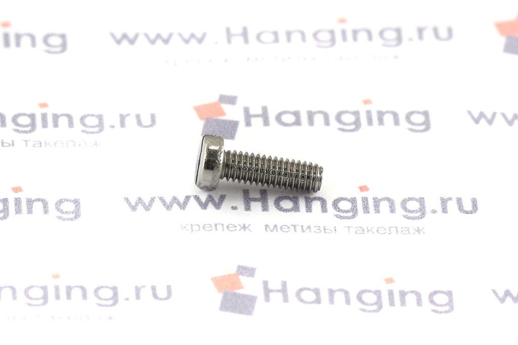 Винт М2,5х8 c круглой плоской головкой из нержавейки А4 DIN 84