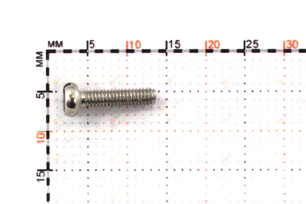 Размеры винта М2,5х10 c круглой плоской головкой из нержавейки А4 DIN 84