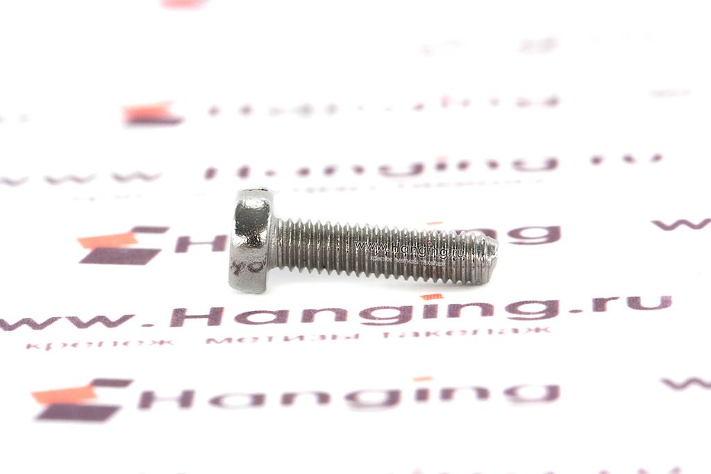 Винт М3х12 c круглой плоской головкой из нержавеющей стали А2 DIN 84