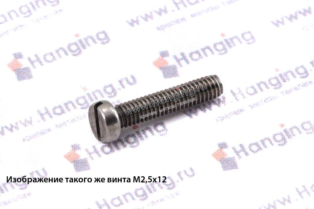 Винт М6х12 c круглой плоской головкой из нержавейки А4 DIN 84