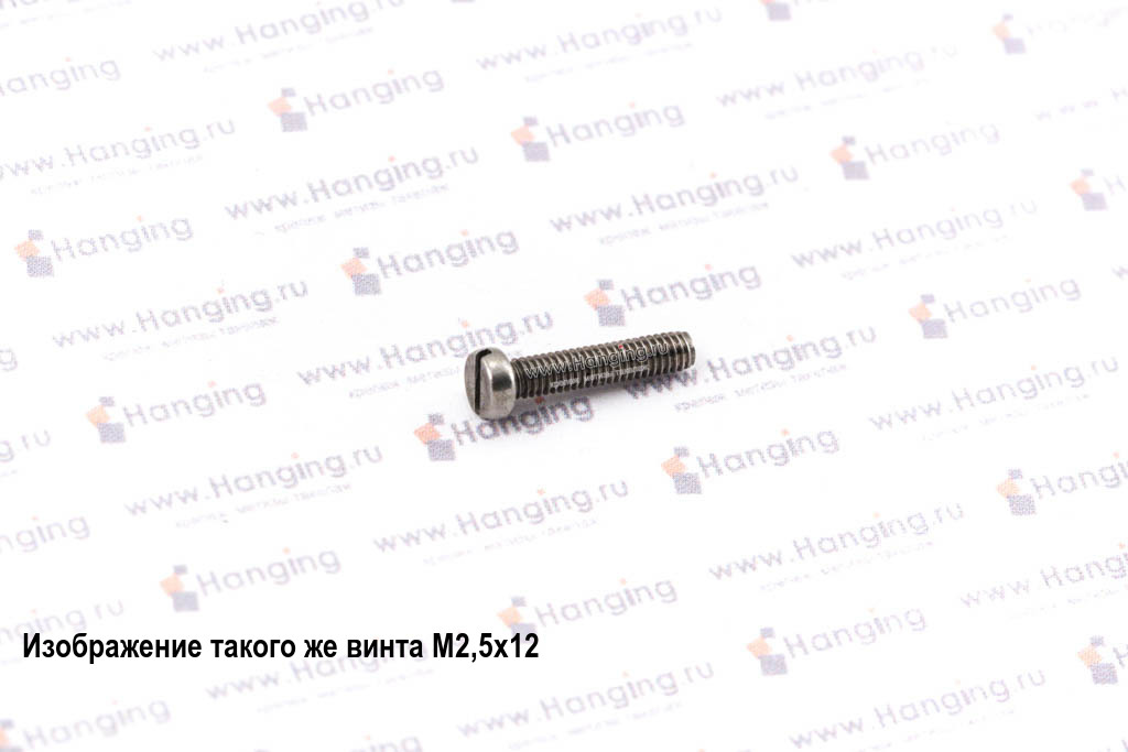 Винт М2,5х18 c круглой плоской головкой из нержавеющей стали А2 DIN 84