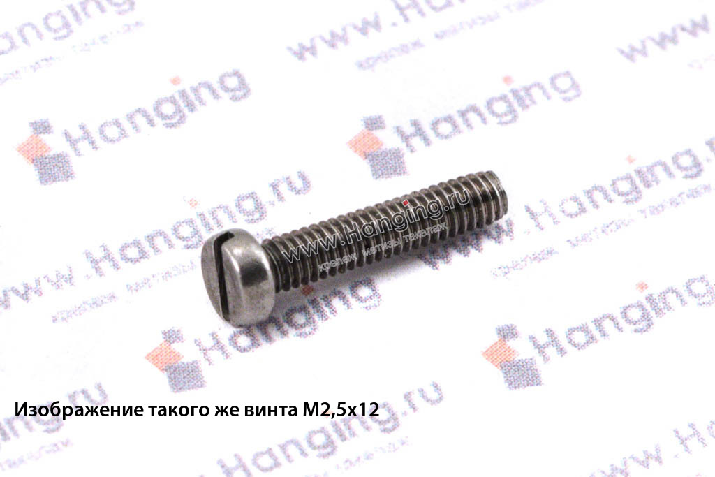 Винт М6х20 c круглой плоской головкой из нержавейки А4 DIN 84