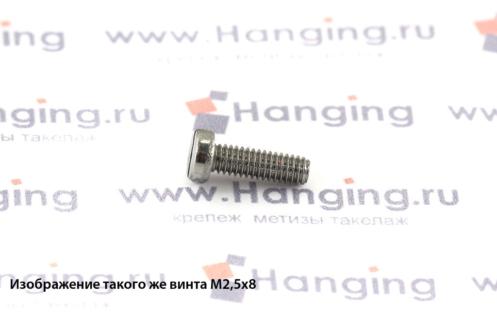 Винт М2х25 c круглой плоской головкой из нержавейки А4 DIN 84