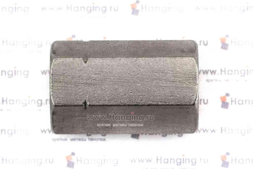 Гайки М10 шестигранные соединительные из нержавеющей стали А4 DIN 6334