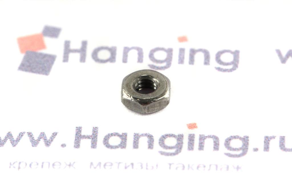 Гайка М2 шестигранная из нержавеющей стали А4 DIN 934