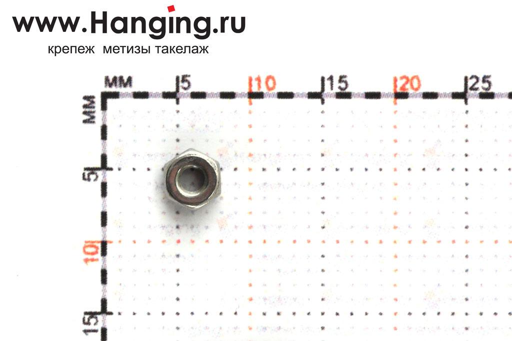 Размеры гайки М2 шестигранной из нержавеющей стали А4 DIN 934