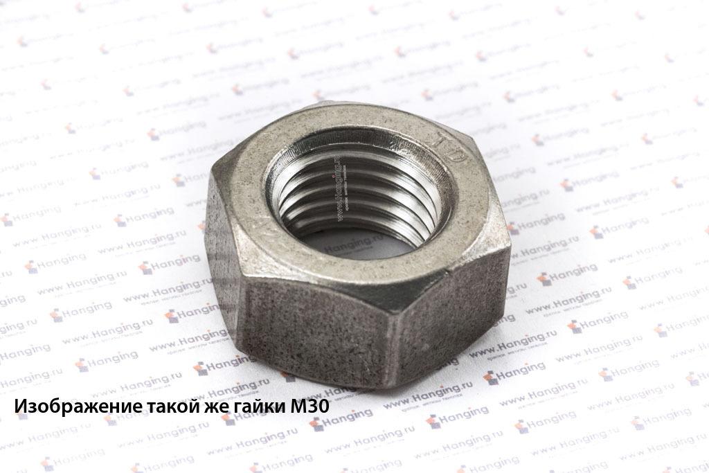 Гайка М60 шестигранная из нержавеющей стали А2 DIN 934