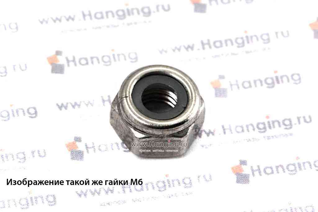 Гайка М3 шестигранная со стопорным кольцом из нержавеющей стали А2 DIN 985