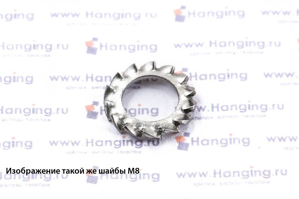 Шайба М7 стопорная с наружными зубьями из нержавеющей стали А2 DIN 6798 Form A