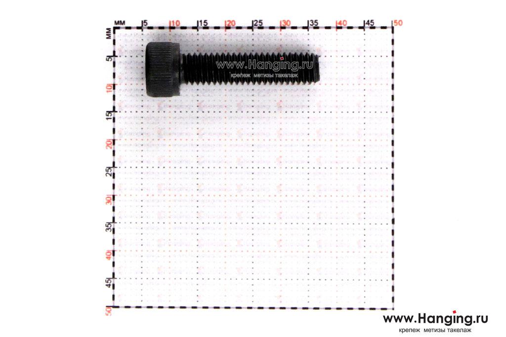 Размеры винта и резьбы винтаМ6х25 ГОСТ 11738-84, DIN 912 и ГОСТ Р ИСО 4762.