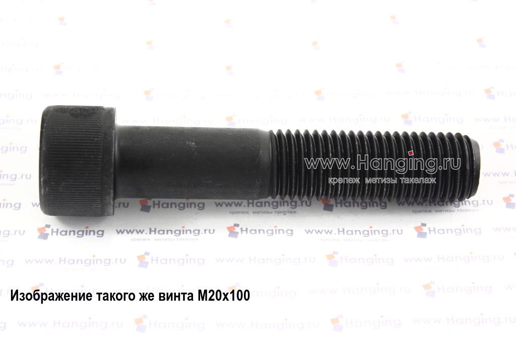 Болт М24х55 с внутренним шестигранником, без покрытия, кл. пр. 10.9, DIN 912