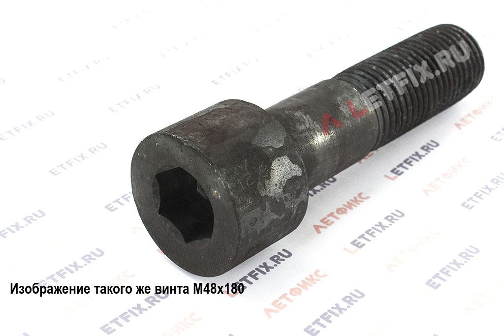 Винт М48х190 с внутренним шестигранником, без покрытия, кл. пр. 12.9, DIN 912