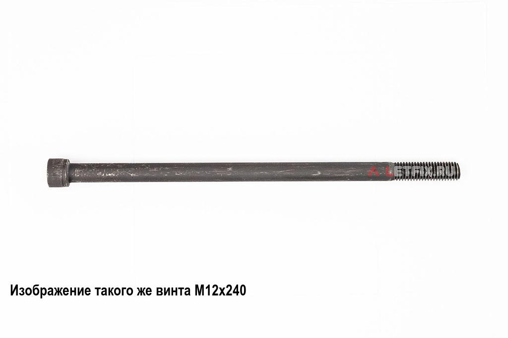 Винт М12х250 с внутренним шестигранником, без покрытия, кл. пр. 12.9, DIN 912