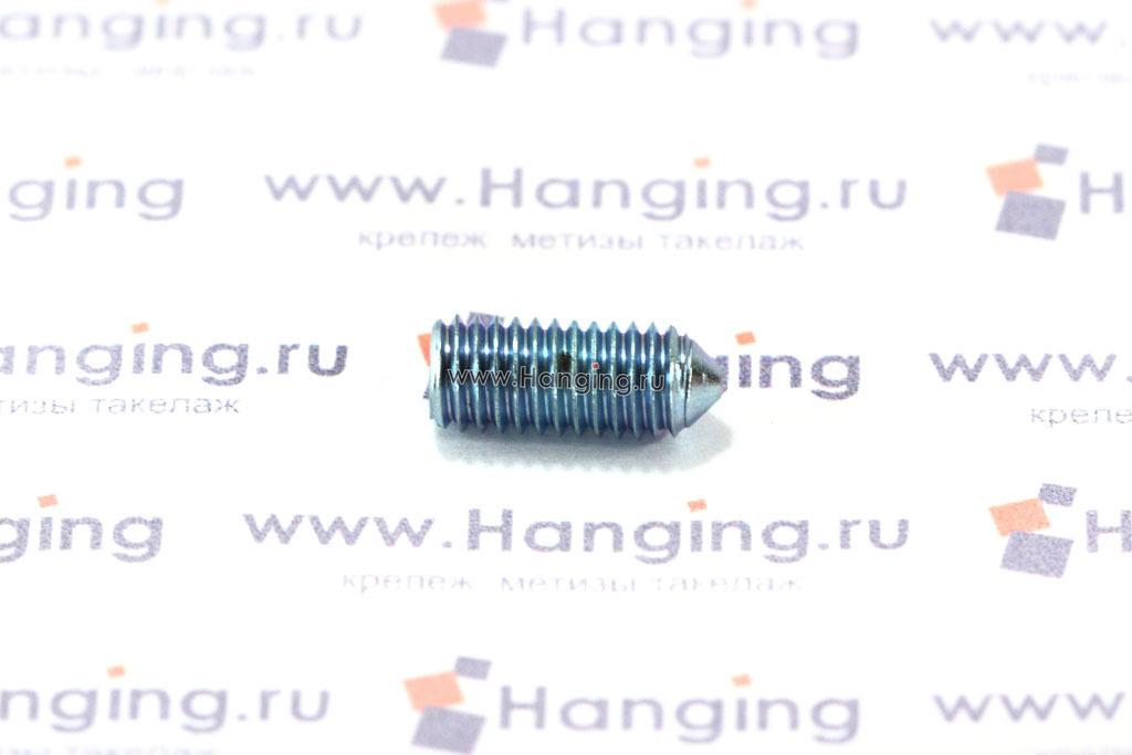 Винт М5х14 установочный оцинкованный со шлицем и конусом DIN 553