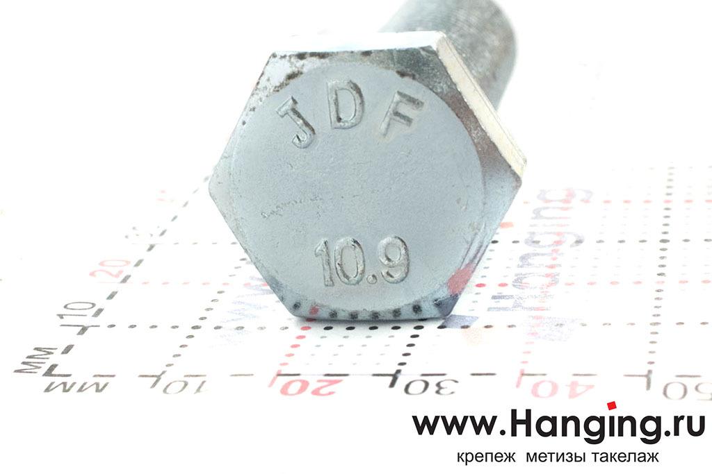 Головка болта М16 длиной 55 мм с мелкой резьбой с шагом 1,5