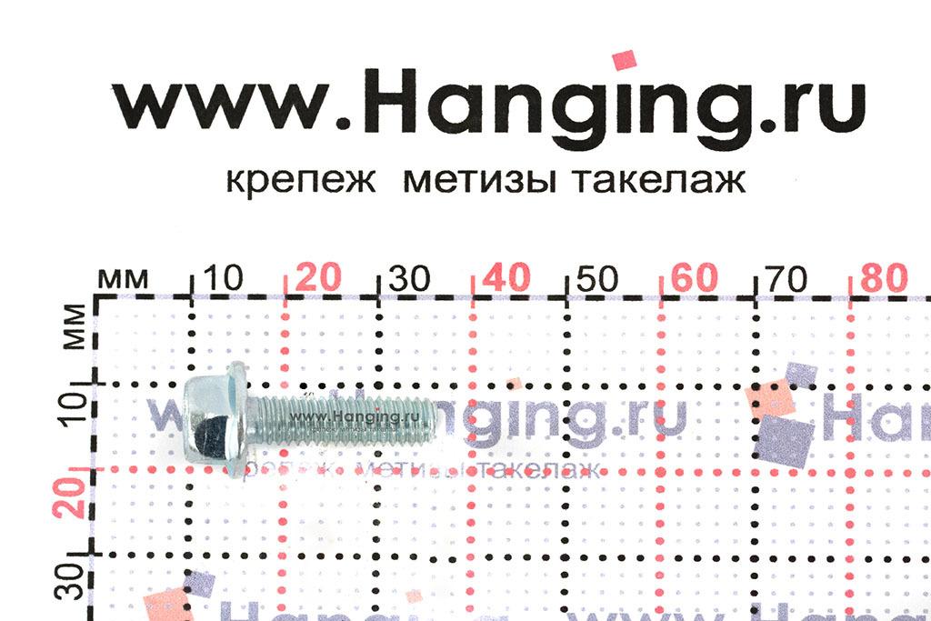 Размеры болта с прессшайбой DIN 6921 М6х20