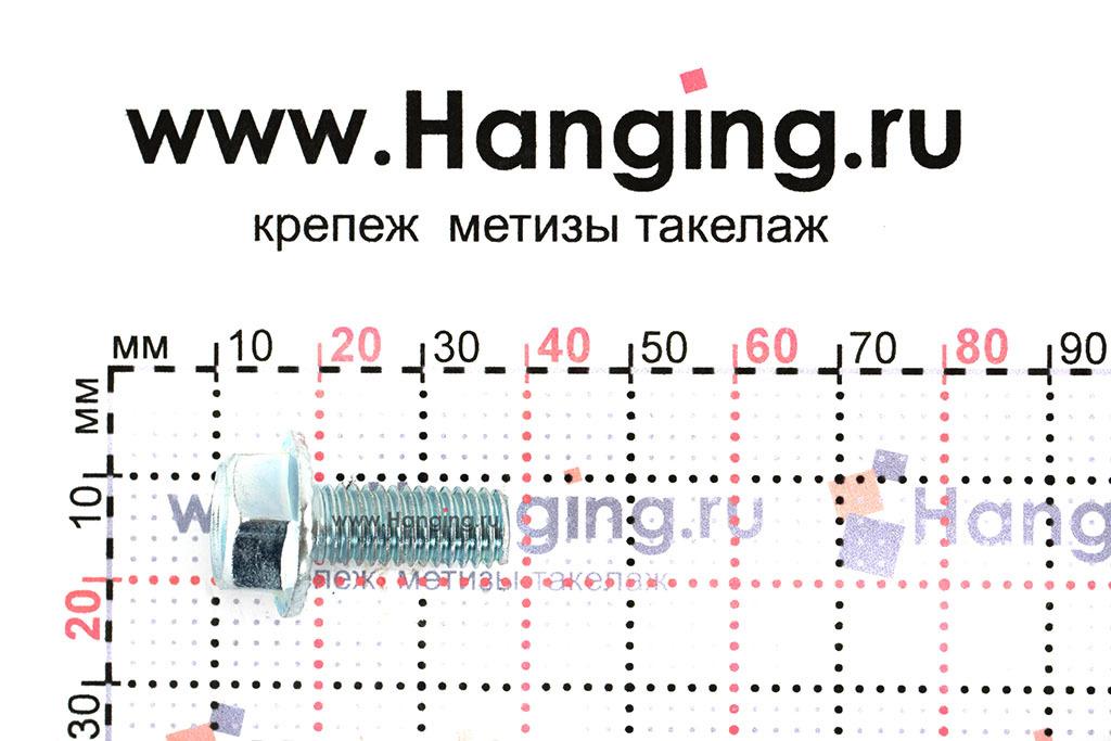 Размеры болта с прессшайбой DIN 6921 М8х20