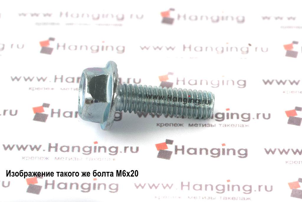 Оцинкованный болт с прессшайбой (с фланцем) М6х45 DIN 6921