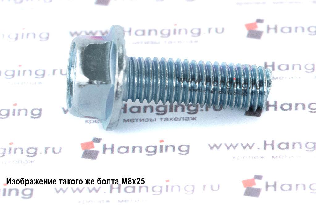 Оцинкованный болт с прессшайбой (с фланцем) М8х30 DIN 6921