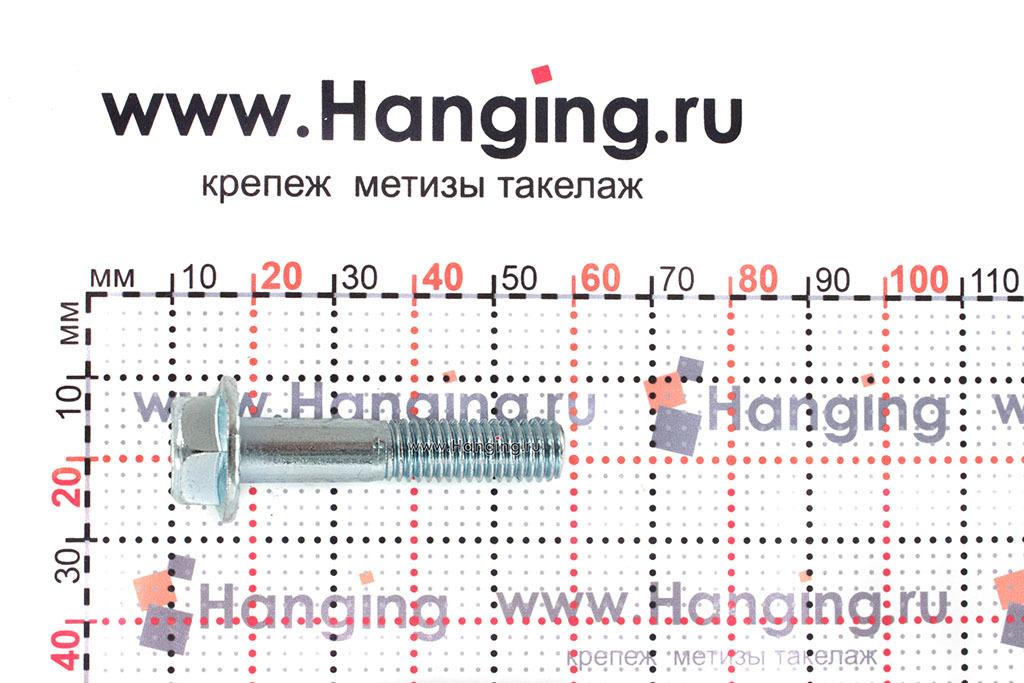 Размеры болта с прессшайбой DIN 6921 М8х40